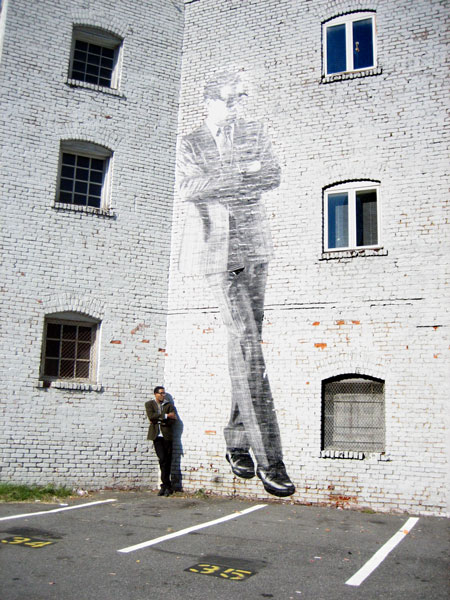 Matt Haffner, Giant wheatpaste of Stan Woodard